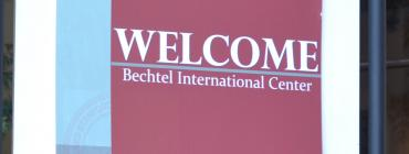 Image of welcome sign outside of Bechtel International Center